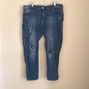 Distressed Rockstar Mid-Rise jeans